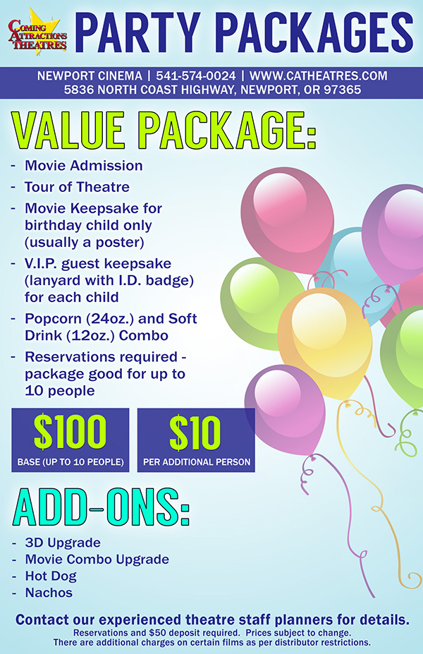 Party Package Newport Cinema